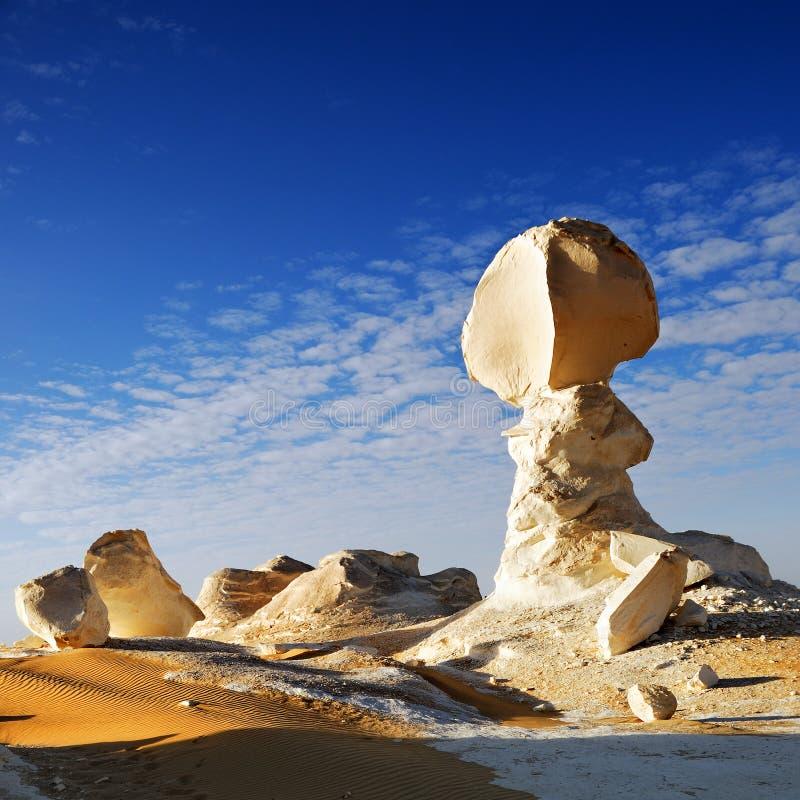 Rotsen in de Witte woestijn royalty-vrije stock foto's