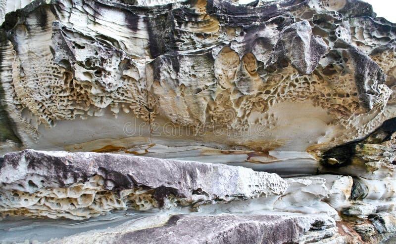 Rotsen door erosie worden gevormd die royalty-vrije stock afbeeldingen
