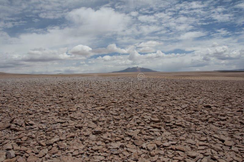 Rotsen en zandwoestijn, Chili royalty-vrije stock foto's