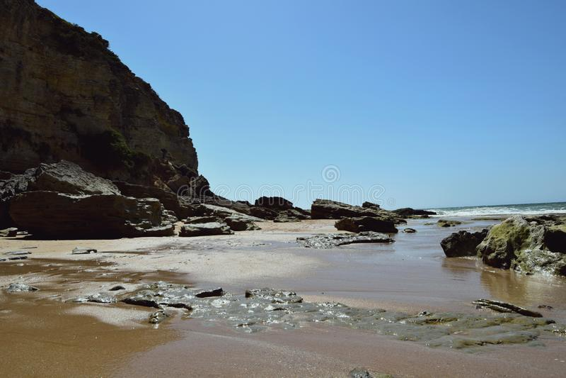 Rotsen op de kust royalty-vrije stock foto