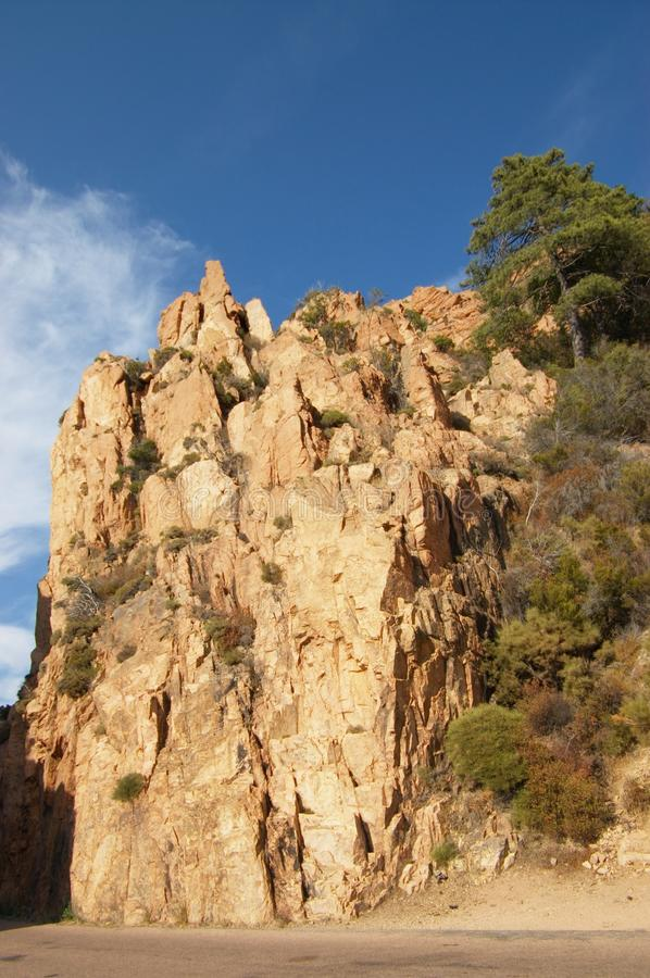 Rotsen van Calanche DE Piana in Corsica royalty-vrije stock foto