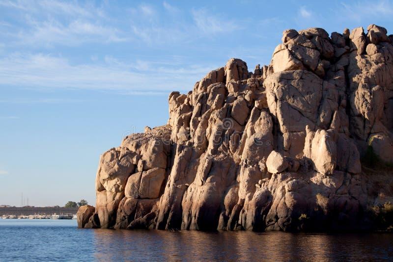 Rotsen van de Nijl stock foto's