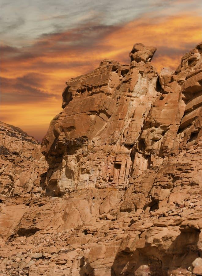 Rotsen van Sinai royalty-vrije stock fotografie