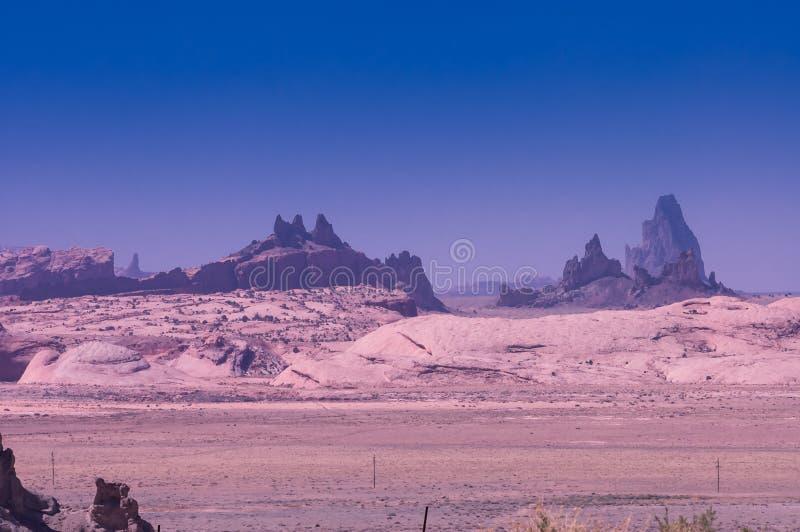 Rotsenvorming op het land van Navajo stock afbeelding