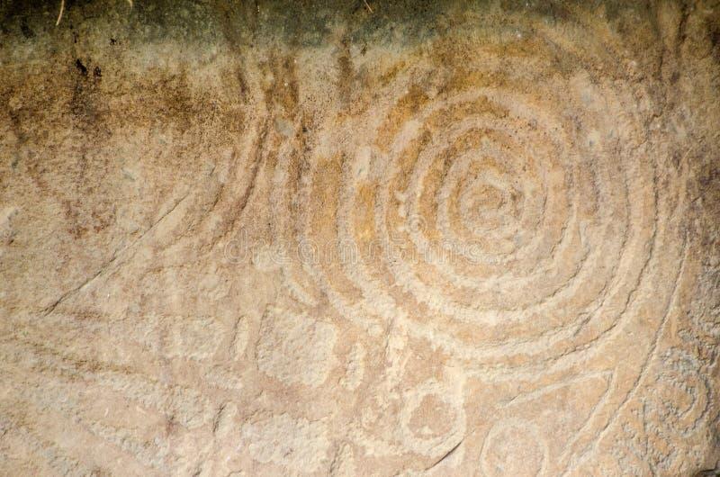 Rotsgravure, Knowth stock afbeeldingen