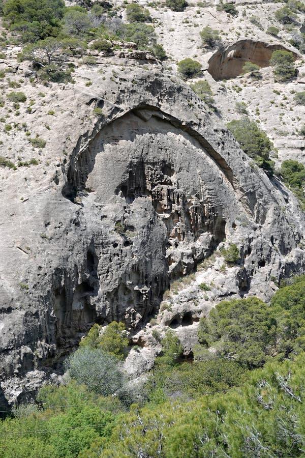Rotslandschap van Caminito del Rey in Andalusia, Spanje royalty-vrije stock foto