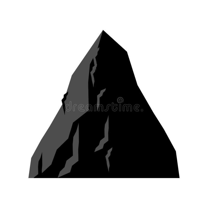 Rotsmijnbouw Berg van steenkool Vector illustratie vector illustratie