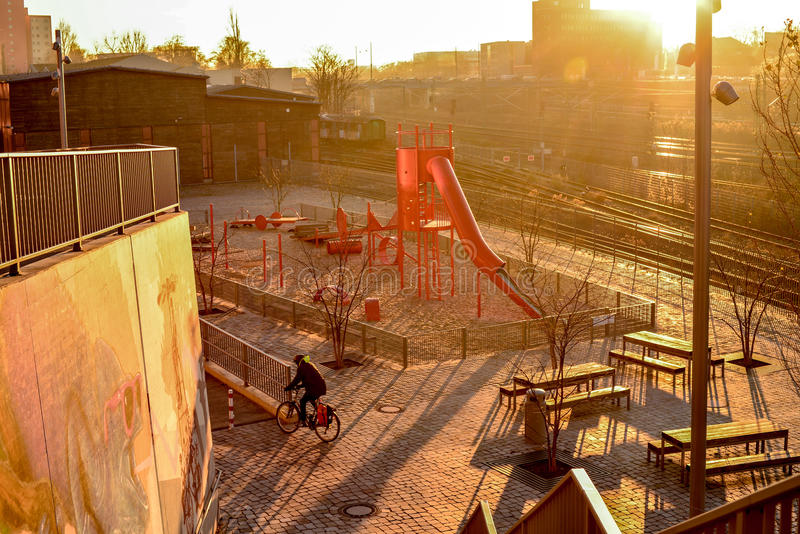 Rotspielplatz stock photo