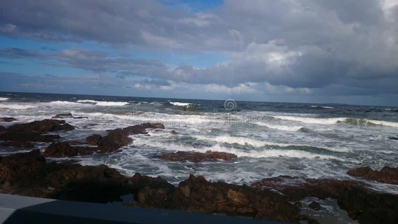 Rotsstrand Uruguay stock foto