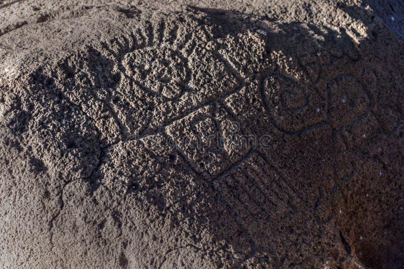 Rotstekeningen op Ometepe-Eiland royalty-vrije stock afbeeldingen