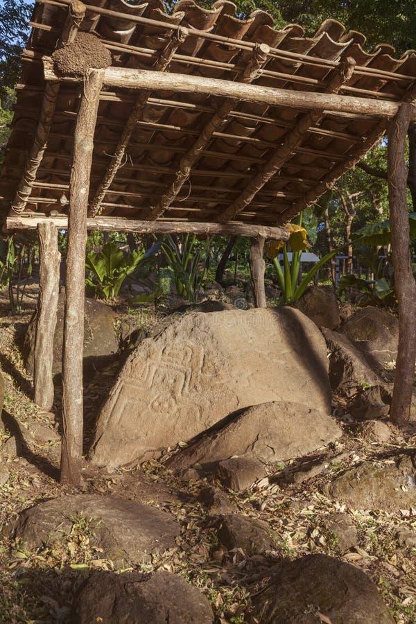 Rotstekeningen op Ometepe-Eiland royalty-vrije stock afbeelding