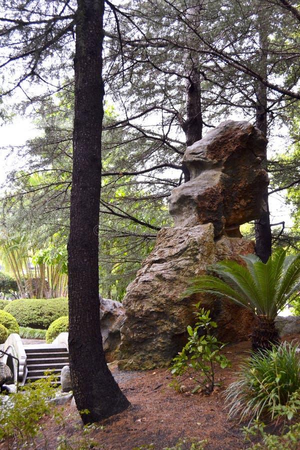 Rotsvorming, Chinese Tuin van Vriendschap, Darling Harbour, Sydney, Nieuw Zuid-Wales, Australië royalty-vrije stock afbeeldingen