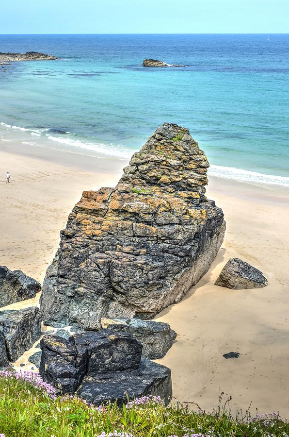 Rotsvorming op de Cornwall kust royalty-vrije stock afbeeldingen