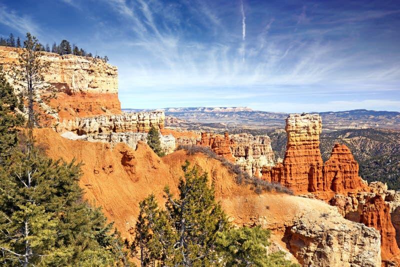 Rotsvormingen in Bryce Canyon, Utah stock afbeelding