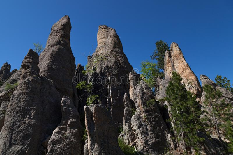Rotsvormingen in Custer State Park stock fotografie
