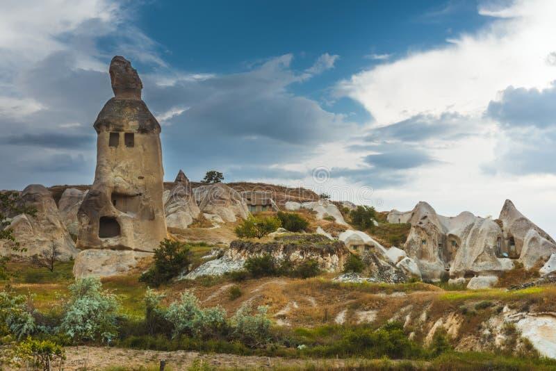 Rotsvormingen in Duifvallei van Cappadocia royalty-vrije stock afbeeldingen