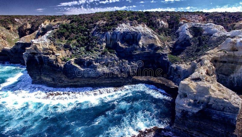 Rotsvormingen langs de Grote Oceaanwegkustlijn, Australië royalty-vrije stock afbeeldingen