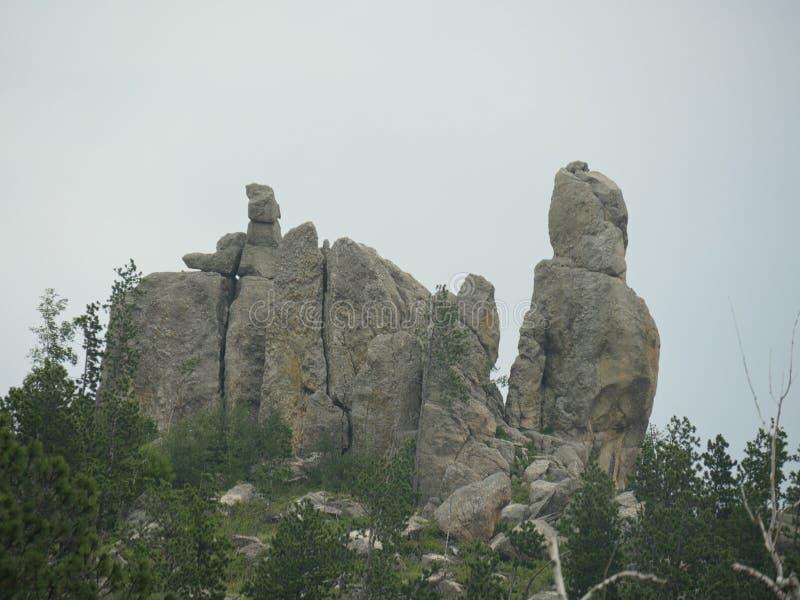 Rotsvormingen, Naaldenweg, Zuid-Dakota royalty-vrije stock fotografie