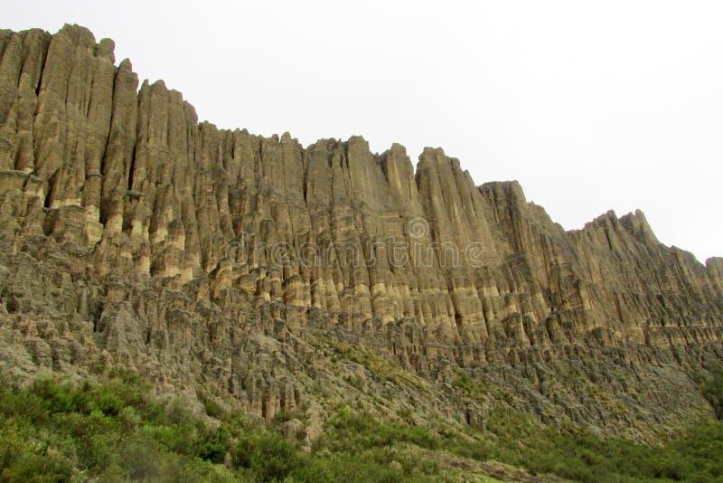 Rotsvormingen Valle DE las Animas dichtbij La Paz in Bolivië royalty-vrije stock foto's