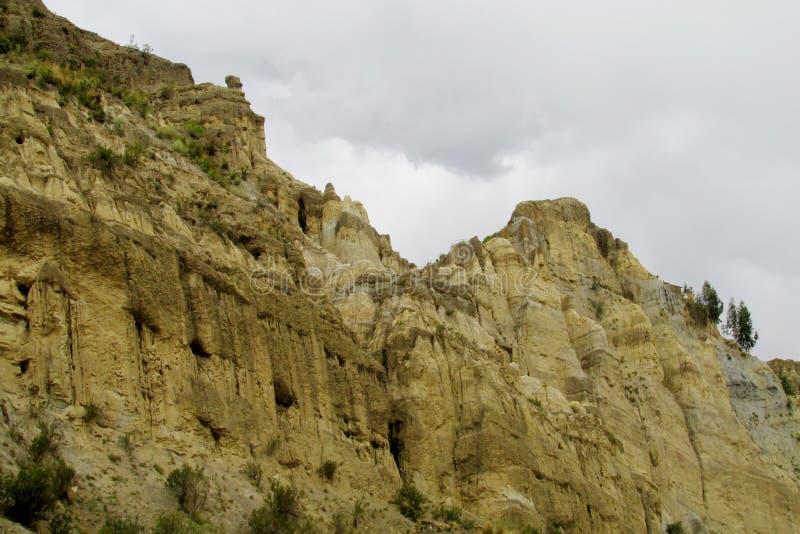 Rotsvormingen Valle DE las Animas dichtbij La Paz in Bolivië royalty-vrije stock fotografie