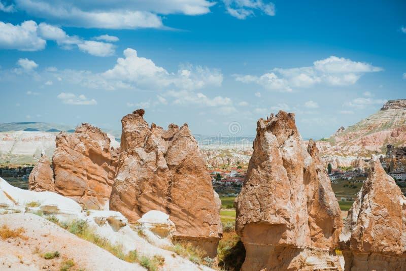 Rotsvormingen van Cappadocia royalty-vrije stock foto