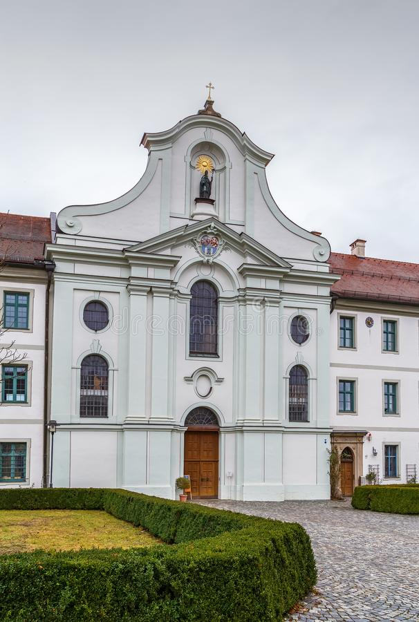 Rott Abbey, Germany. Rott Abbey was a Benedictine monastery in Rott am Inn in Bavaria, Germany royalty free stock images