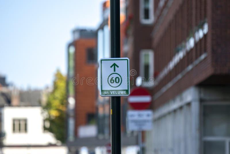 Rotta Per Biciclette 60 A Apeldoorn Nei Paesi Bassi 2018 fotografia stock libera da diritti