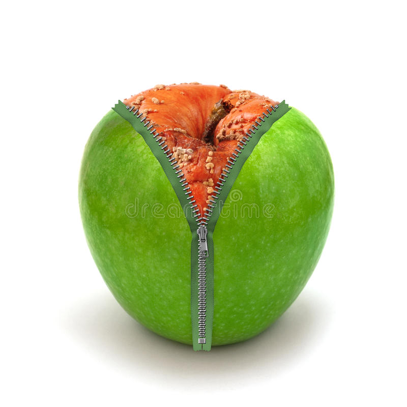Free Rotten Apple In New Skin Stock Image - 27141701