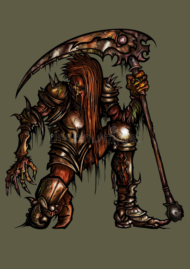 Download Rotten Knight In Rusty Armor Stock Illustration - Illustration of creature, death: 72901338