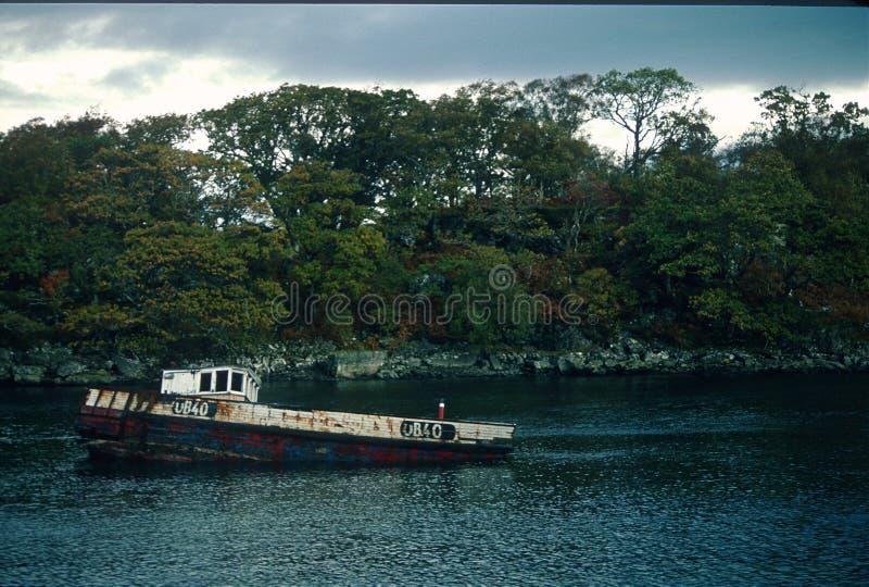 Rottende Boot met UB40 Registratie stock afbeeldingen