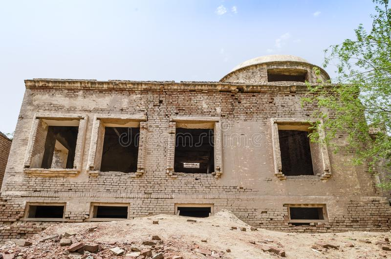 Rottende ruïnes van Derawar-Fort Bahawalpur Pakistan stock afbeeldingen