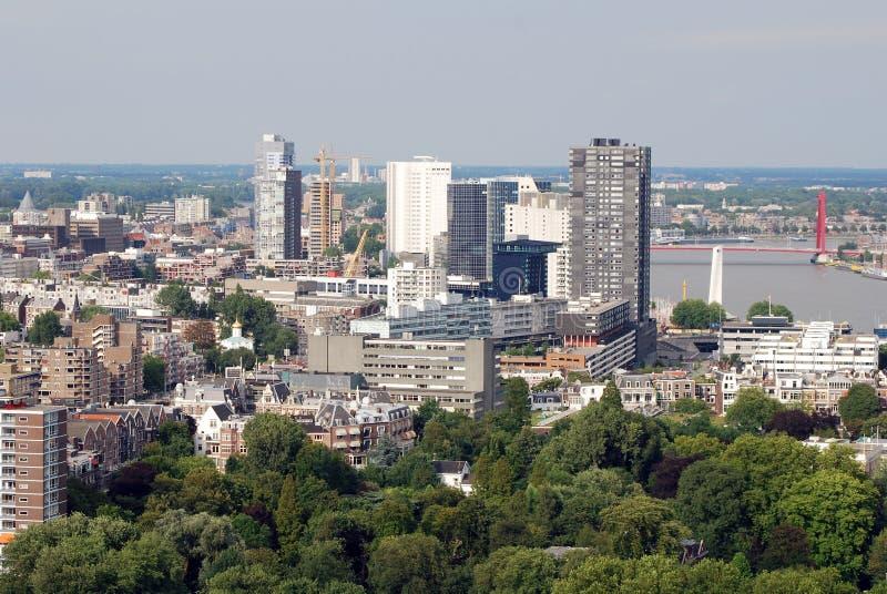 Rotterdam aerea fotografia stock libera da diritti