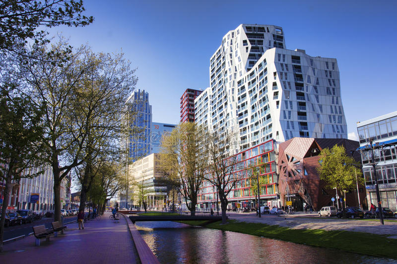 Download Rotterdam Buildings Editorial Stock Photo. Image Of Pond   58934248