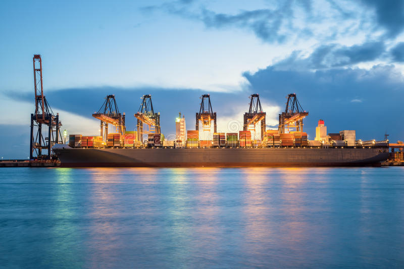 Rotterdam cargo terminal,one of the busiest ports in the world,. Netherlands royalty free stock image
