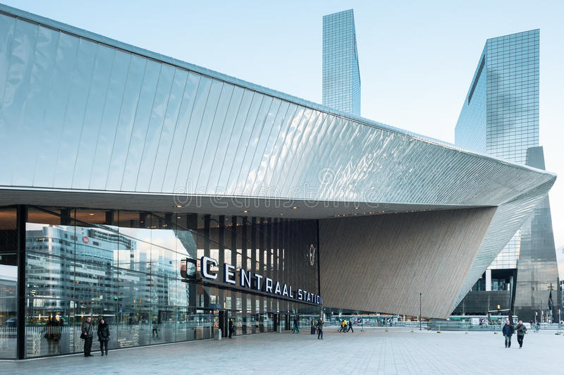 Rotterdam Centraal Railway Station royalty free stock photo