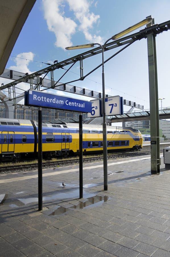 Rotterdam Central Train Station stock photo