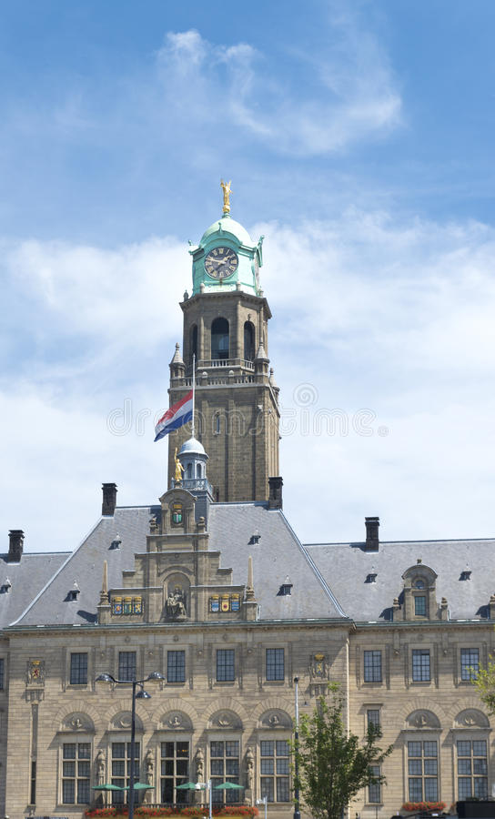 Rotterdam city hall royalty free stock photos