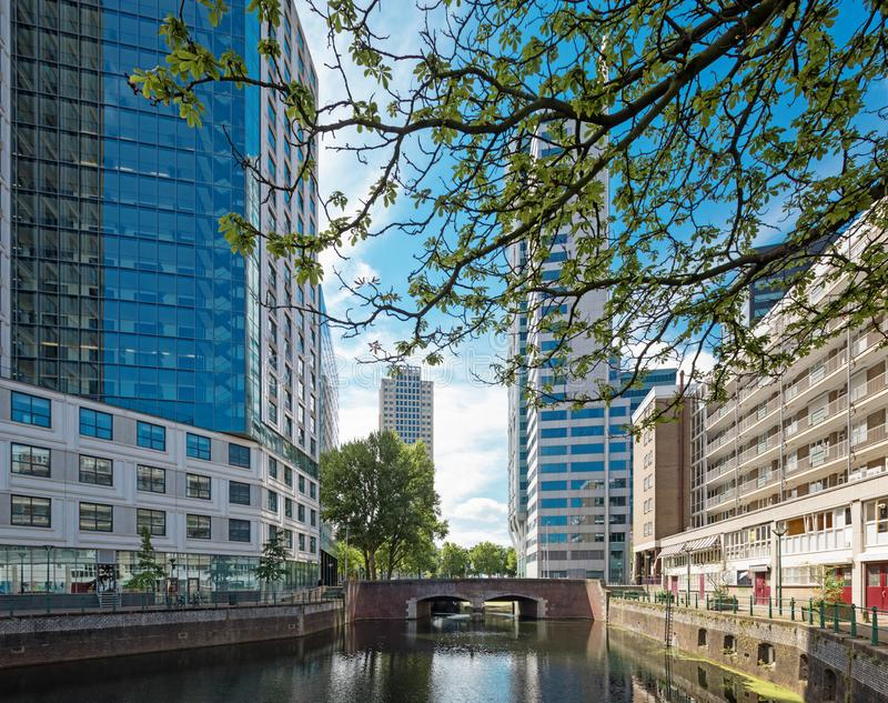 Rotterdam Cityscape With Canal And Buildings Stock Photo ...
