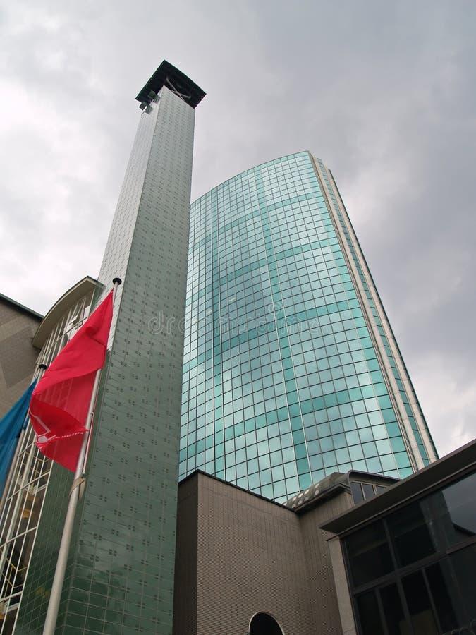 Rotterdam, costruzione corporativa moderna fotografia stock libera da diritti