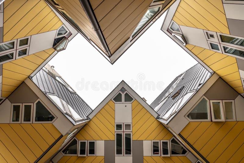 Rotterdam Cube House sky view royalty free stock photo