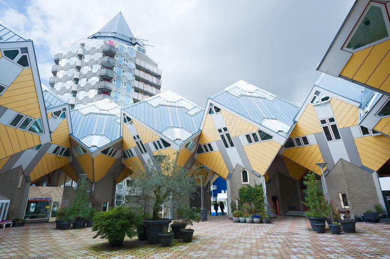 Rotterdam cube house in Blaak district royalty free stock photos