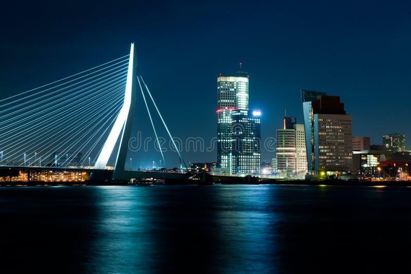Rotterdam at dusk royalty free stock images