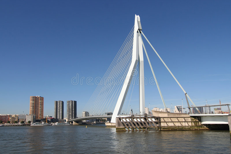 Rotterdam Erasmusbridge photo libre de droits