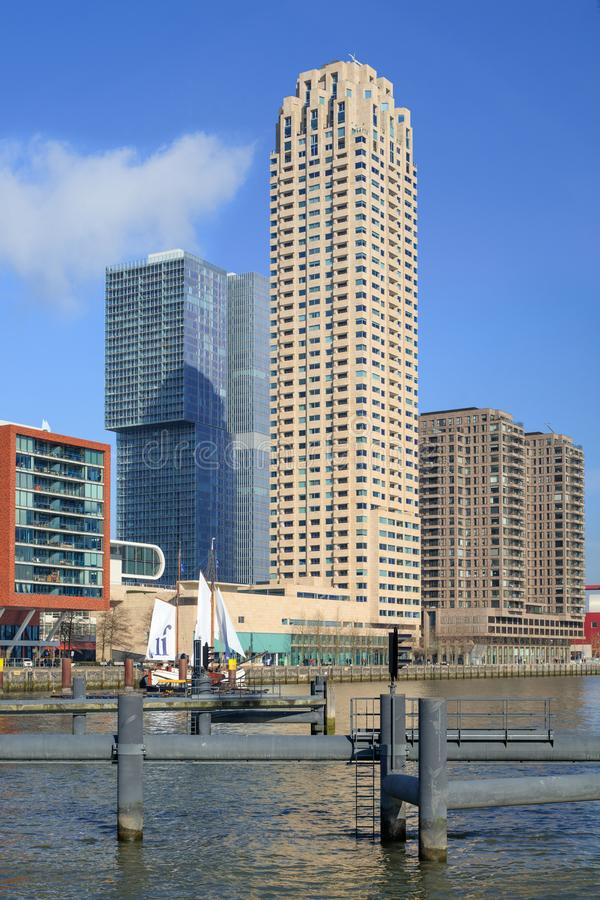 New Orleans residential tower on the Wilhelminapier, Rotterdam, Netherlands royalty free stock photo