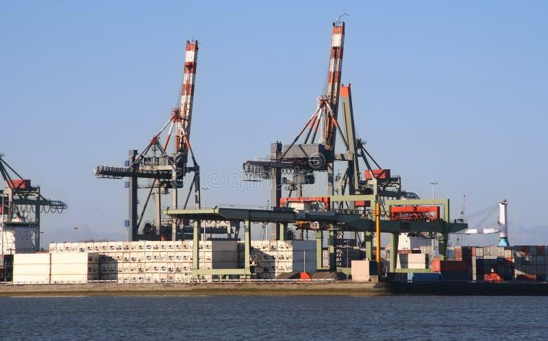 Download Rotterdam Harbor stock photo. Image of trade, quay, port - 12400620