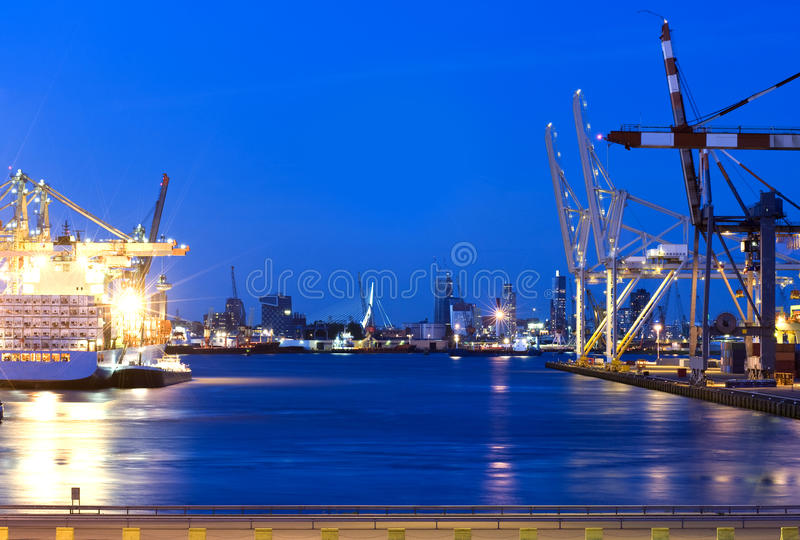 Download Rotterdam Harbor stock image. Image of export, canal, road - 9436603