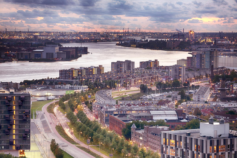 Download Rotterdam Harbor And The City, Holland Stock Photo - Image: 27041886