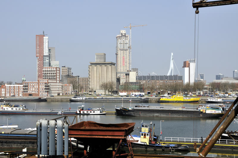 Download Rotterdam harbour stock photo. Image of buildings, city - 13875976