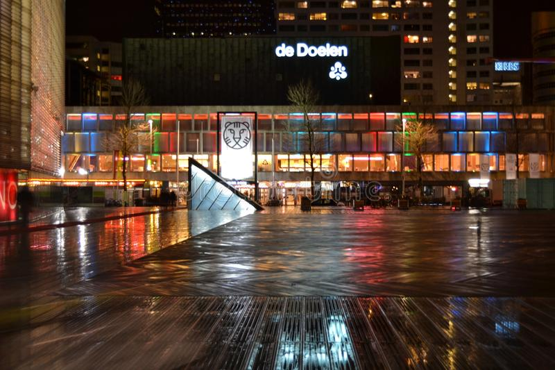 Rotterdam IFFR internationell filmfestival, Holland Netherlands arkivbild