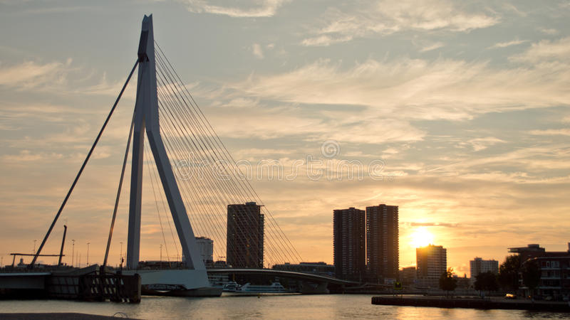 Rotterdam landscape royalty free stock images